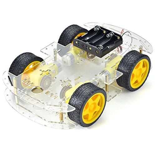Acrylic Robot Chassis 4 Wheel