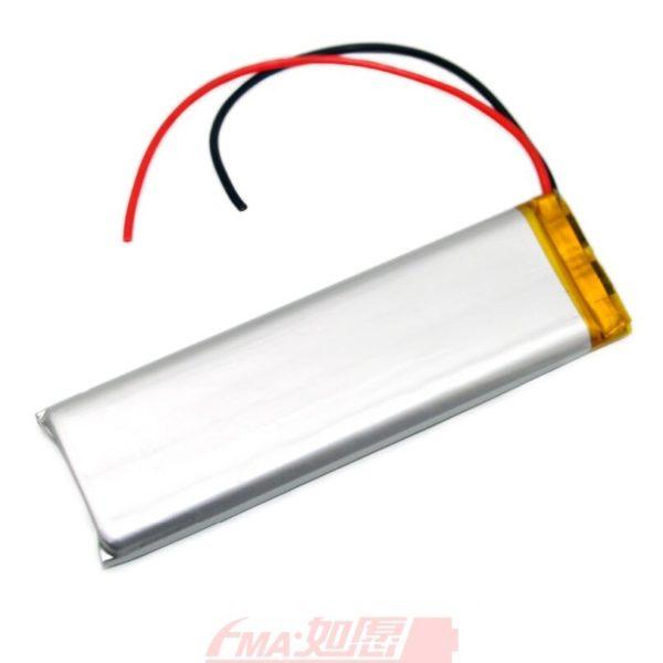 Polymer Li-Ion Single Cell Battery 3.7V, 300mAh (83x31x4 mm
