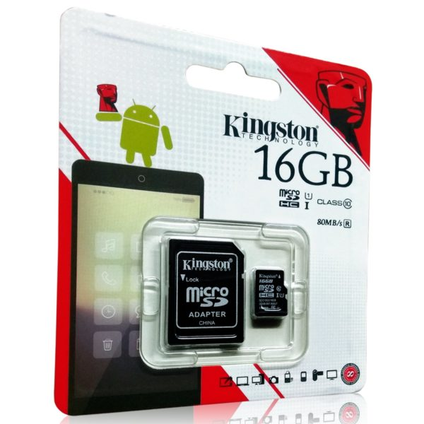 Kingston 16GB MicroSD Class 10