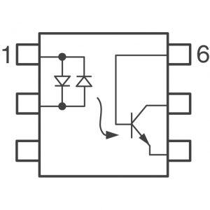 H11AA1 (AC input transistor output mounting)