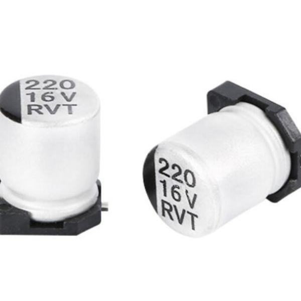 SMD (220UF-16V) Aluminum Electrolytic Capacitor