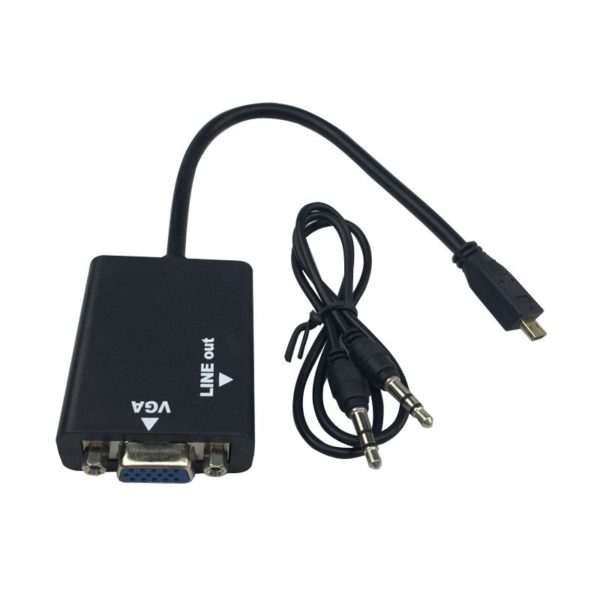 HDMI To VGA Adapter Converter Cable With Audio Out