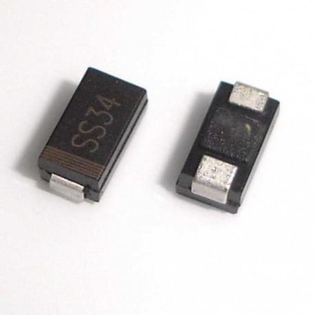 SMD Schottky diode 3A/40V (1N5822) SS34 (10PCS)