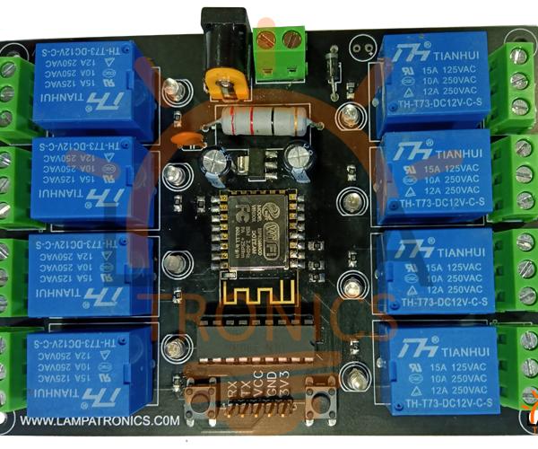 ESP8266 10A 220V Relay WIFI Module 8ch Smart Board