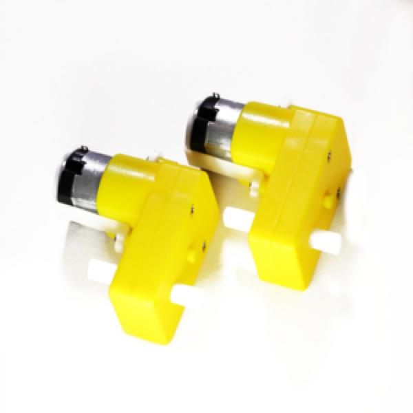 L Shape DC Gearbox Motors (2PCS)