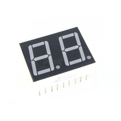 7-segment 2*1 red(common cathode)