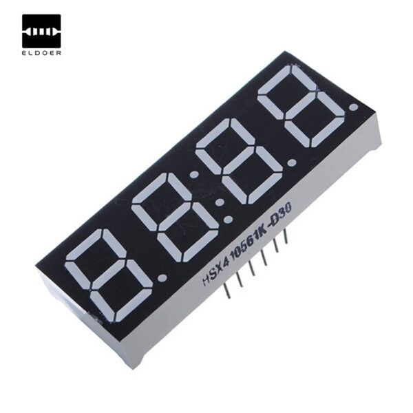0.56 Inch 7-Segment 4 Digit Red Clock LED Comm.Anode Time 12 Pins