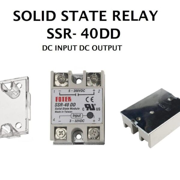Solid State Relay SSR-40DD (I/P 3-32Vdc / O/P 5~200Vdc)